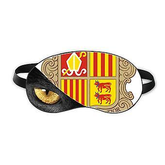 Andorra La Vella Andorra National Emblem Øyehode Hvile Mørk Kosmetologi Skygge Deksel