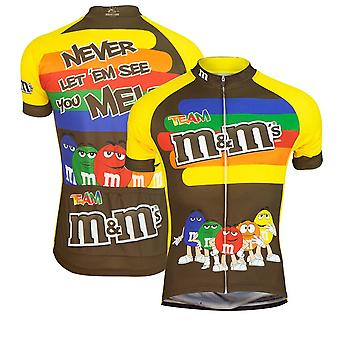 Homme Nouveau Patron Manches Courtes M Bean Cartoon Pattern Cycling Jersey Respirant Outdoor Bicycle Clothes