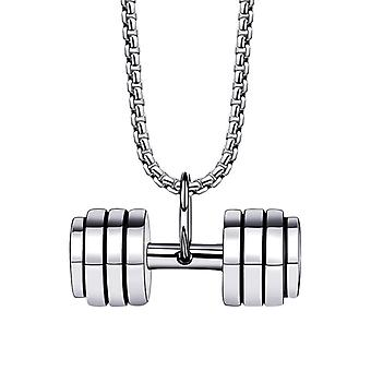 Men's And Women's Necklace Pendant Hip Hop Jewelry (including Chain),silver