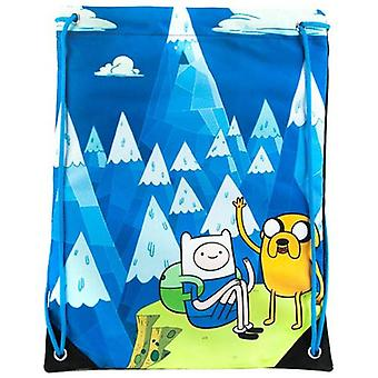 ADVENTURE TIME Jake en Finn Blue Mountain koord sportschool tas blauw (CI3563ADV)