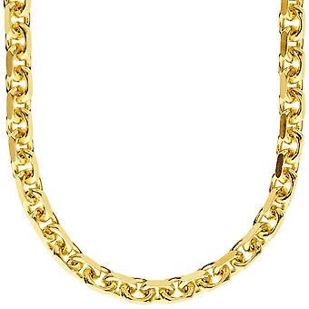 Sterling 925 Silver Chain - anchor 6, 5 mm gold