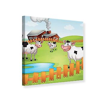 Canvas Print de grappige koeien