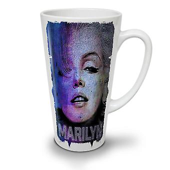 Famous Marilyn NEW White Tea Coffee Ceramic Latte Mug 12 oz | Wellcoda