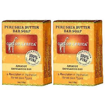 Out of Africa Pure Shea Butter Bar Soap Apricot Exfoliating 2 Bar Pack