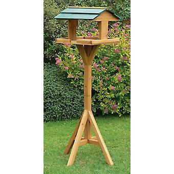 Kingfisher Premium Wooden Bird Table & Stand Traditional Feeding Station