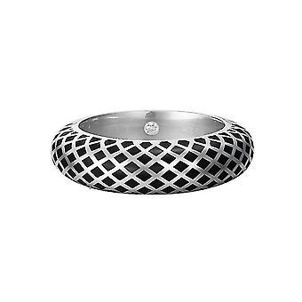 ESPRIT women's ring silver lattice black ESRG91919A1