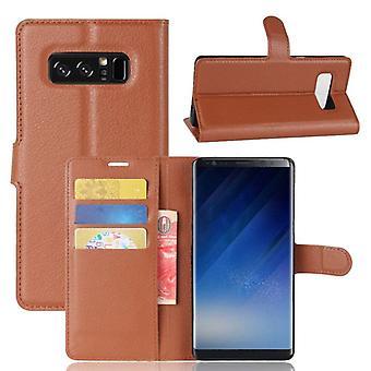 Prémio de carteira de bolso Brown para Samsung Galaxy touch 8 N950 N950F proteção luva capa case