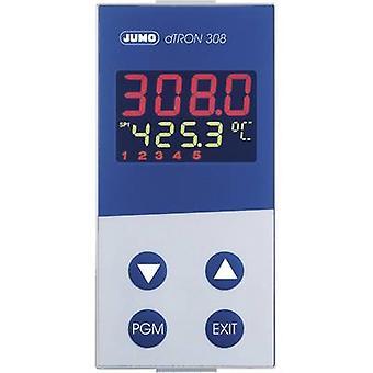 Jumo dTRON 308 (hoch) PID temperatuurregelaar Pt100, Pt500, Pt1000, KTY11-6, L, J, U, T, K, E, N, S, R, B, C, D-200 tot + 2400 ° C 3 A estafette, analoog