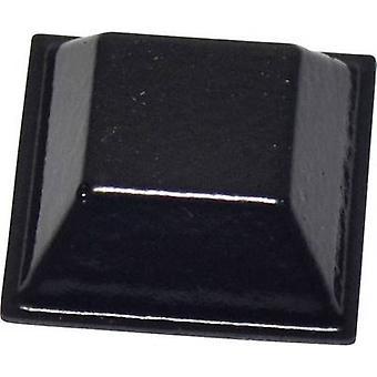 TOOLCRAFT PD2205SW voet zelfklevende, vierkante zwart (L x W x H) 20.6 x 20.6 x 7.6 mm 1 PC('s)