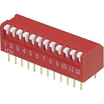 TRU COMPONENTS DPR-12 DIP Schalter Anzahl der Pins 12 Klavier-Typ 1 Stk.