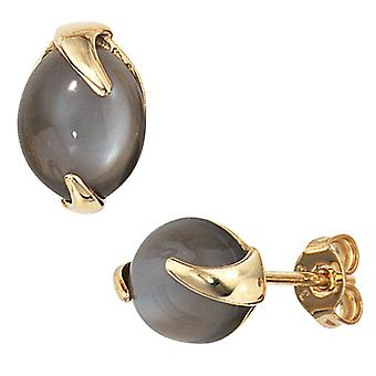 Örhängen-585 /-g-Moon sten örhängen Örhängen guld 585's månstenar