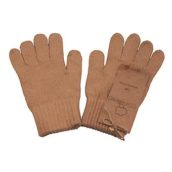 Body4real Organic Clothing 100% Certified Cotton Unisex Gloves Brown Extra Large