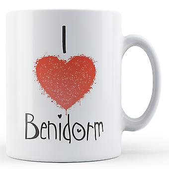 Decorative Writing I Love Benidorm Printed Mug