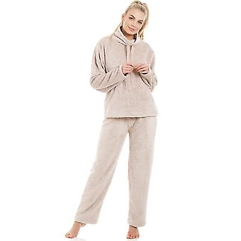 Camille Womens super Fleece Mink Pyjama sett