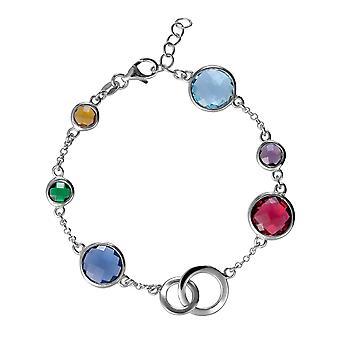 Orphelia 925 Silver armband med mångfärgade stenar 18,5 CM ZA-7409