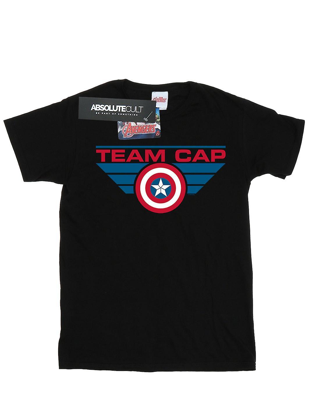 Marvel Women's Captain America Civil War Team Cap Boyfriend Fit T-Shirt