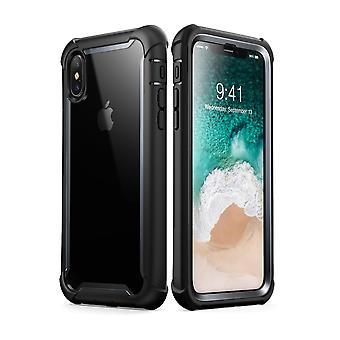 i Blason iPhone iPhone X asia Ares koko kehon karu selkeä puskurin kattaa sisäänrakennettu näytön suoja, Musta XS tapauksessa