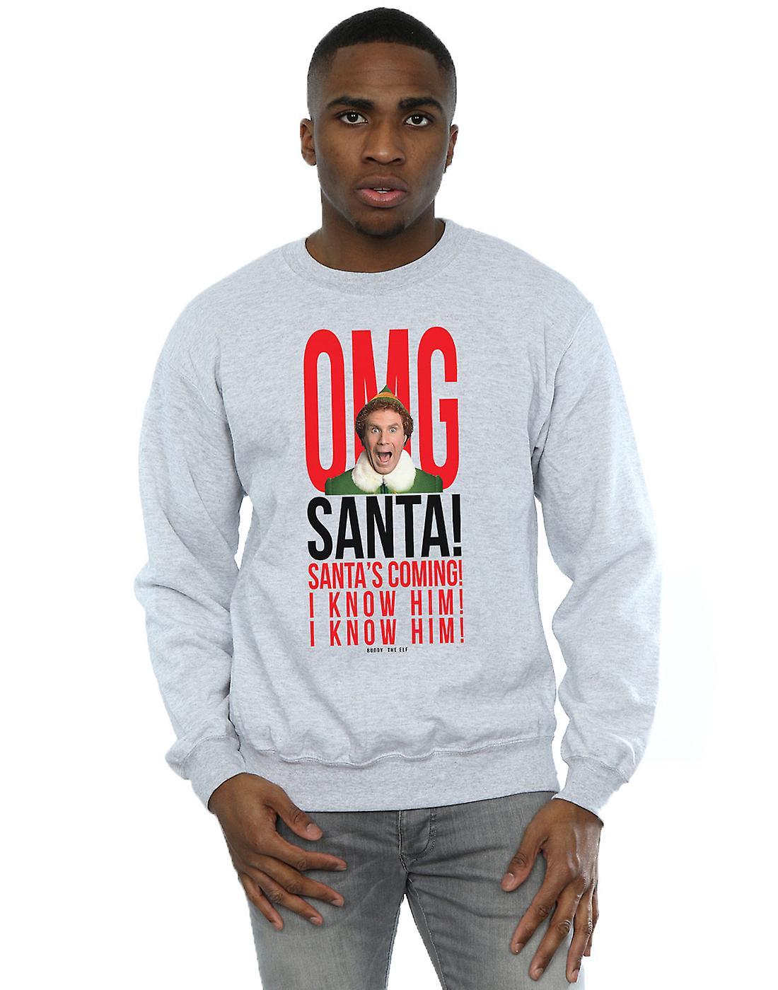Elf Men's OMG Santa I Know Him Sweatshirt