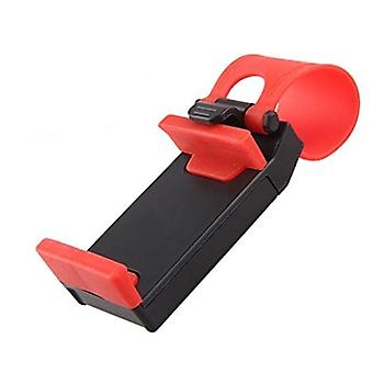 Mobile holder for steering wheel-black and red