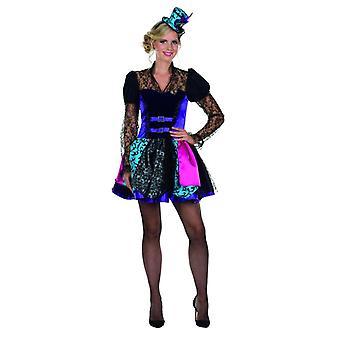 Steampunk kostyme farget kjole kvinners Carnival Zirkusdirektorin karneval