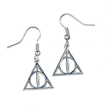 Harry Potter Silver Plated Earrings Deathly Hallows