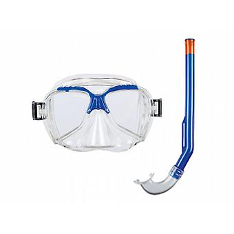 BECO Swimming Mask & Snorkel Set - Blue - for Children 4+ years