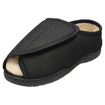 JWF Unisex Extra Wide Fit Open Toe Slippers Shoe
