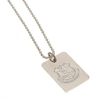 Everton FC Silver Plated Dog Tag And Chain
