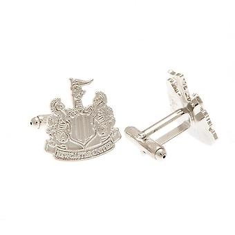Newcastle United FC Silver Plated Crest Cufflinks