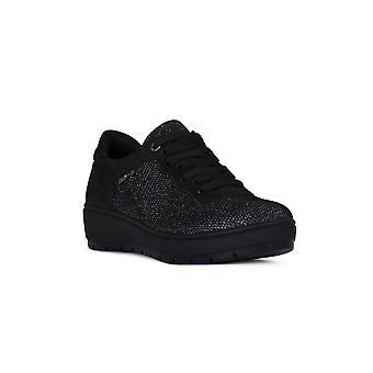 Enval soft goat black shoes