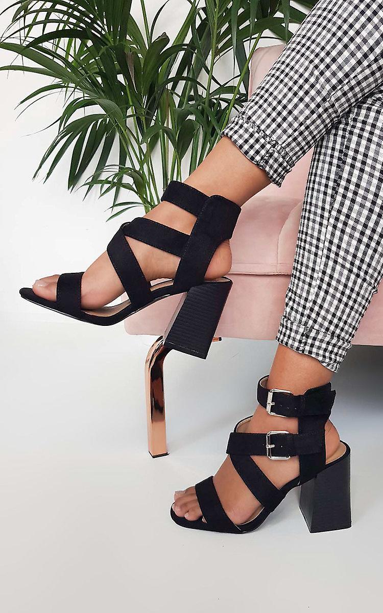 IKRUSH Womens Jemma Cross Over Double Strap Heels zlFUM