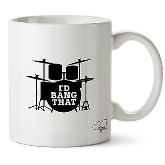 Hippowarehouse Chciałbym bum (zestaw perkusyjny) Wydrukowano Kubek Kubek ceramiczny 10oz