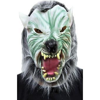 Srebrny Wolf z włosów maski na Halloween