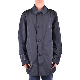 Peuterey Ezbc017079 Men's Blue Polyester Trench Coat