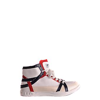 Frankie Morello Ezbc167007 Men's White Leather Hi Top Sneakers