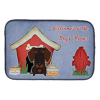 Dog House Collection fil teckel poil plat chocolat séchage Mat