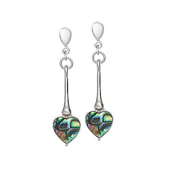 Eternal Collection Keepsake Paua Shell Silver Tone Drop Clip On Earrings