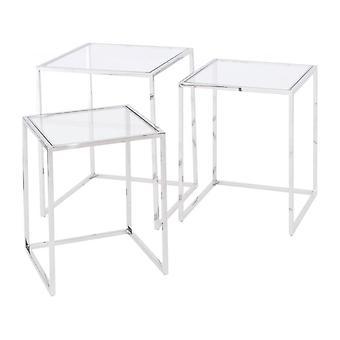 Meubles Balanceen acier inoxydable et nid de verre de tables