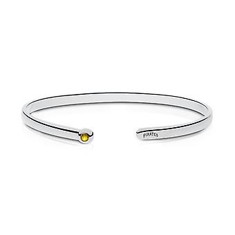 Pittsburgh Pirates indgraveret Sterling Sølv Gul Sapphire Cuff armbånd