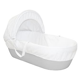 Shnuggle Modern Moses Basket (Pebble Grey) vauva lapset Bed COT