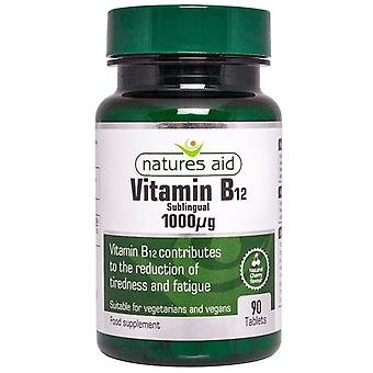 Nature & apos;s Aid Vitamin B12 1000ug (تحت اللغة) أقراص 90 (128030)