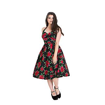 Hell Bunny Black & Red Cannes 50s Dress L