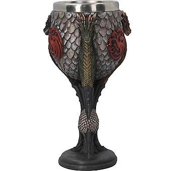 Joc de Thrones goblet Casa Targaryen Sigil foc & sânge oficial hand pictate