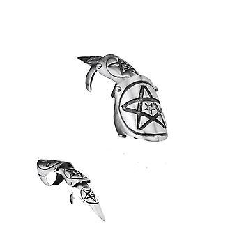 Claws - pentagram star - pewter finger claw