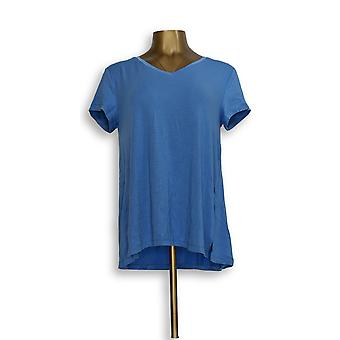 H par Halston Women-apos;s Top Essentials V-Neck Forward Blue A306231