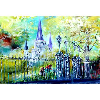 St Louis Cathedrial Across the Square Fabric Placemat