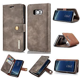 Dg. MING Samsung Galaxy S8 Plus Split Leather wallet Case-Coffee