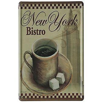 Wellindal Printed Metal Box Vintage New York Bistro 20X30- Hcn1015-87