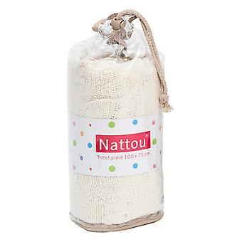 Nattou Ivory Cotton blanket 75X105 Cm (Textiel , Kinderjaren , Beddengoed)