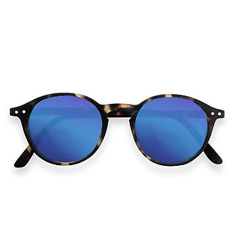 IZIPIZI Sun Junior #d Tortoise With Blue Mirror Sunglasses